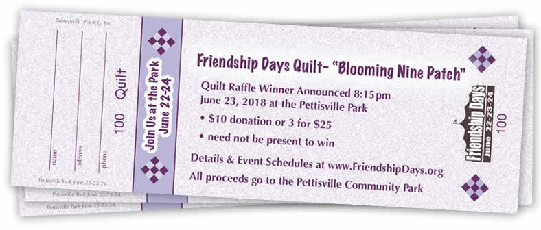 Quilt Raffle benefits the Park